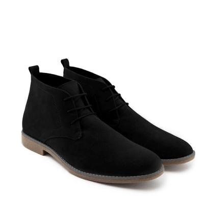 Polacchini uomo K02 scarpe scamosciate polacchine nero | blu | camel