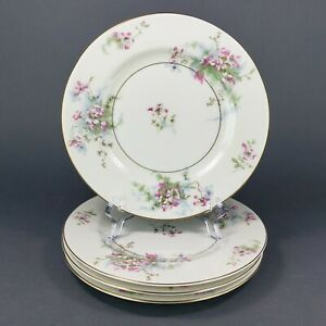 Theodore-Haviland-New-York-Apple-Blossom-Salad-Plates-7-5-034-Set-of-4