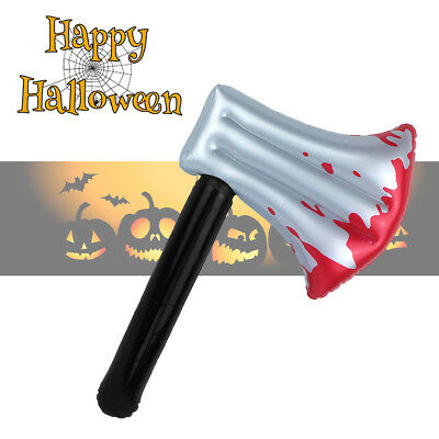 Inflatable Bloody Axe 40cm Blood Prop Halloween Fancy Dress Party DecorationProp