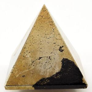 2-034-Natural-Golden-PYRITE-w-Hematite-Pyramid-Crystal-Mineral-Specimen-India