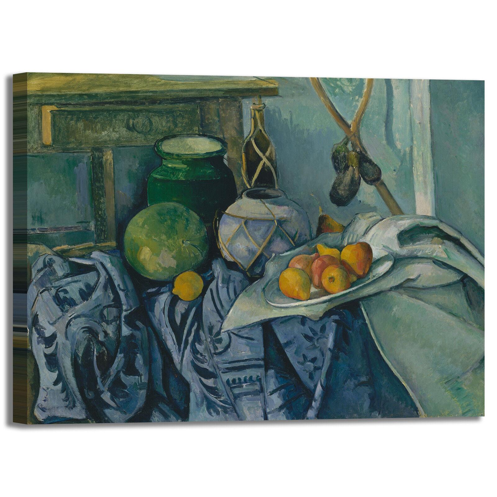 Cezanne natura morta 45 design quadro stampa tela dipinto con telaio arrossoo casa