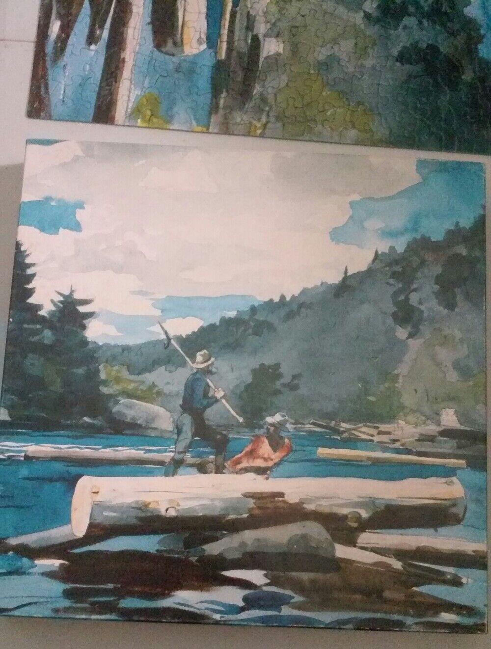 Winslow Homer fine art 500 piece puzzle Hudson River-Logging