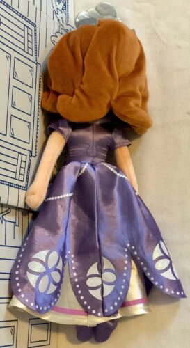 """Disney Store Sofia The First Princess Plush Doll Toy Junior Once Upon Purple 13"""""""