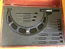 Starrett 224 6 12 Micrometer With Standards Anvils Case