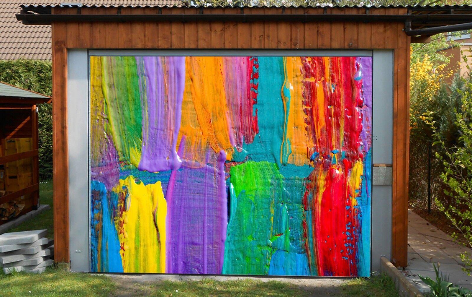 3D Farbe Paints 6 Garage Door Murals Wall Print Decal Wall AJ WALLPAPER AU Lemon