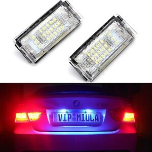 Details about 2x BMW E46 Canbus Error Free License Number Plate Light 3528  SMD LED Lamp Bulbs