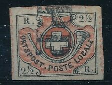 [5202] Switzerland 1850 RARE stamp very fine used value $4600. GENUINE