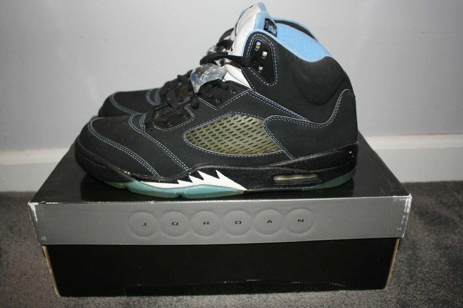 DEADSTOCK 2006 Nike Air Jordan 5 V Retro LS Black University bluee Size 11