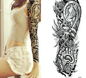 Dettagli su BRACCIO COMPLETO Cuore Tribale adesivi per tatuaggi temporanei Body Art 3D Tatuaggi IMPERMEABILE mostra il titolo originale