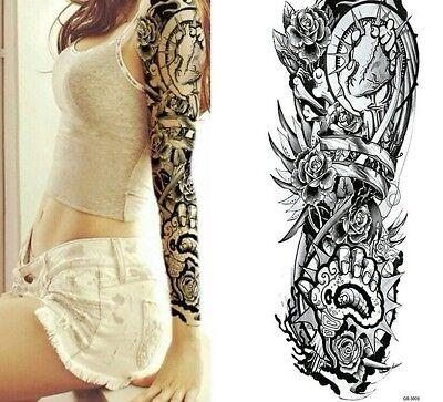 Full Arm Heart Tribal Tattoo Temporary Stickers Body Art 3d Tatoo Waterproof Ebay