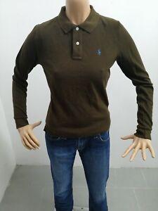 Maglia-polo-RALPH-LAUREN-donna-taglia-size-M-sweater-woman-pull-femme-P-6291