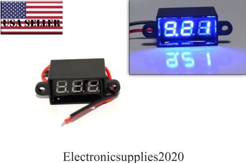 Blue Mini DC Waterproof 0.28 DC 3.5-30V Mini Digital LED Voltmeter Volt Meter