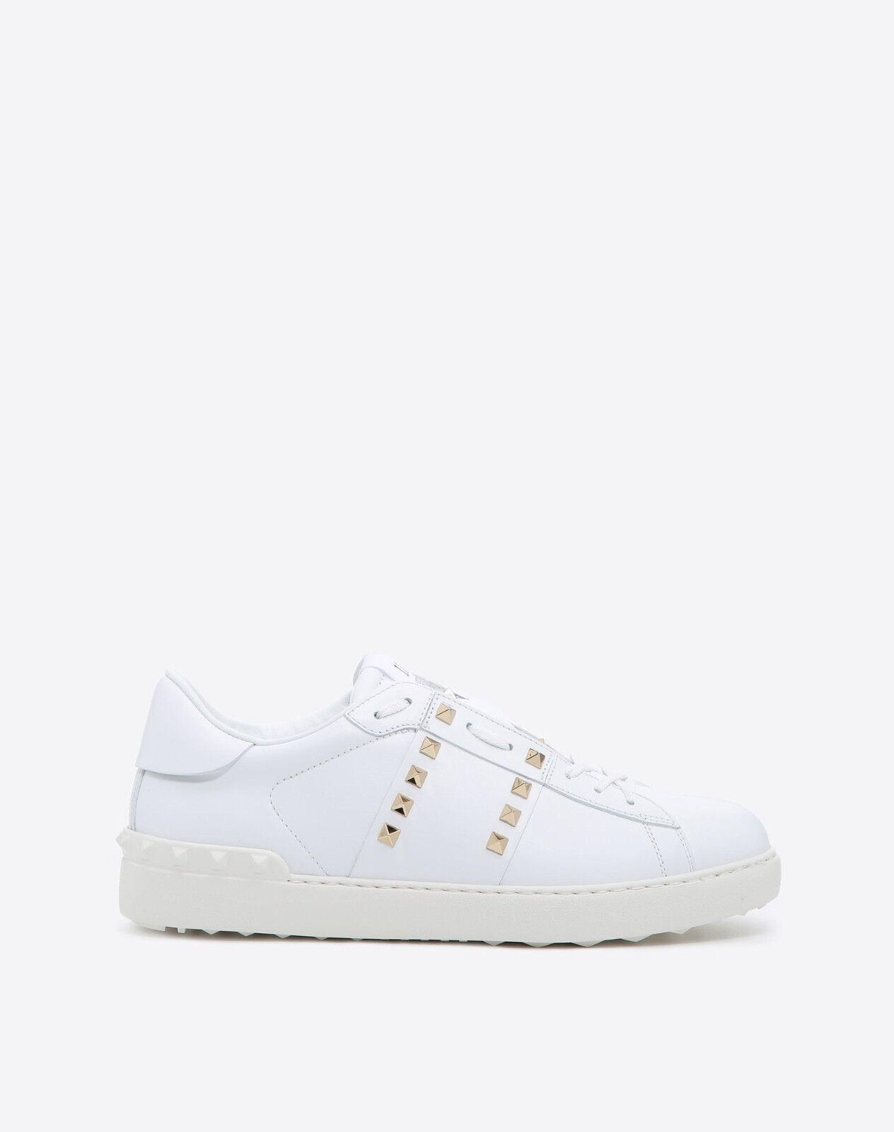 Valentino Rockstud baskets-blanc avec rivets DORES