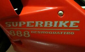 DUCATI 888 FAIRING DECAL STICKER GRAPHICS/ PAIR LEFT AND RIGHT SIDES