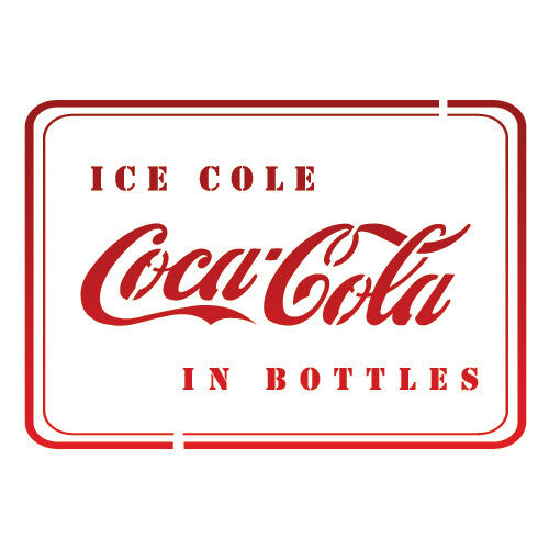 Letter Stencils Airbrush Painting Decorative Wall Art Home Decor Cocacola 2