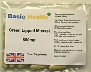 Green-Lipped-Mussel-x-120-Capsules-850mg-Arthritis-Knees-Elbows-Joint-Pain
