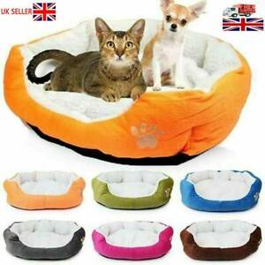 Dog-Bed-Pet-Cushion-Beds-House-Soft-Warm-Kennel-Blanket-Nest-Washable-S
