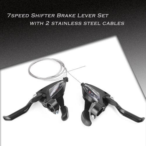 EF500-7 3x7S Brake Shifters Brake /& Shift Levers L/&R for New Bike Black New