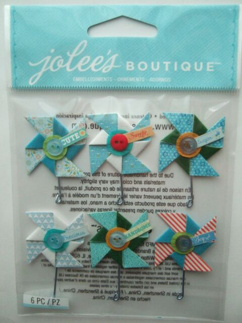 ~BABY BOY PINWHEELS REPEAT~ Jolee's Boutique Dimensional Stickers; blue, son