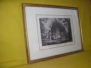 Indiens-de-la-terre-de-feu-voyage-Capitaine-Cook-gravure-originale-1774