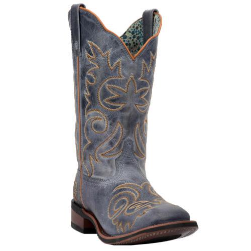 "Laredo Ella 01-5676-BL Women/'s 11/"" Blue Leather Comfort Cowboy Boots"