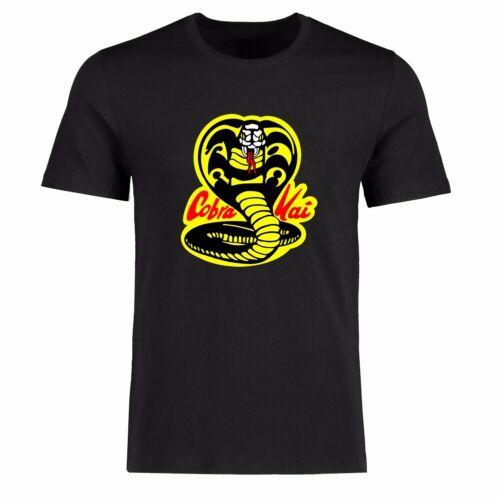 Men T-shirt/'s Funny Cobra Kai Graphic Tee Shirt Cotton Short Sleeve Black top