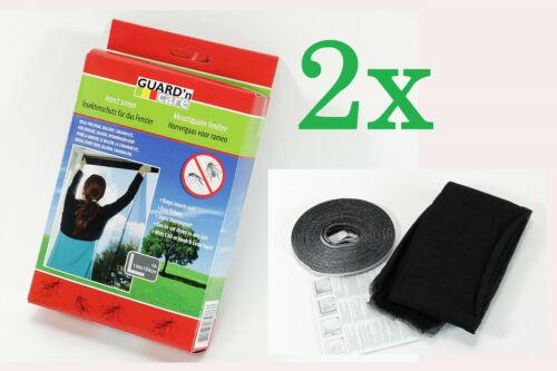 Nouveau 2x protection insectes 130x150 Moustiquaire Moustiques Grille Polyester Moustiquaire