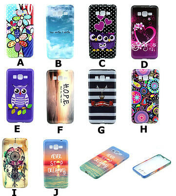 Grossy Patterned TPU Silicone Soft Rubber Case Cover For Samsung Smart Phones