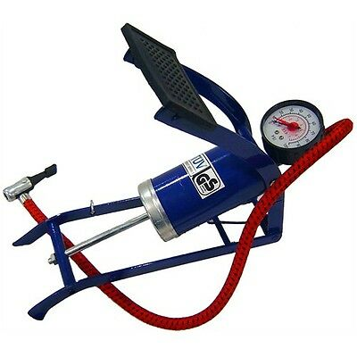 Multi-Purpose Heavy Duty Air Pump with Gauge - for Tires, Bikes & Inflatables