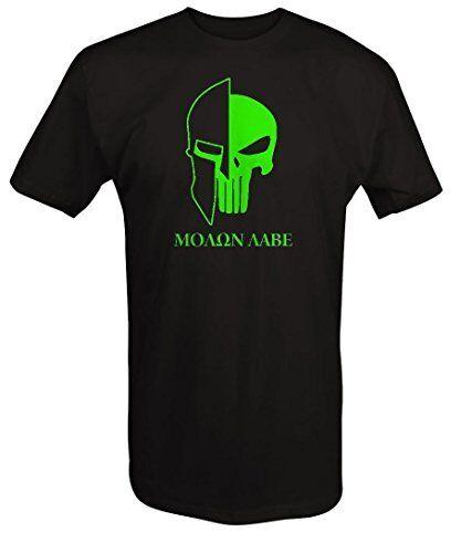 Punisher Skull Molon Labe Spartan Helmet Military T Shirt