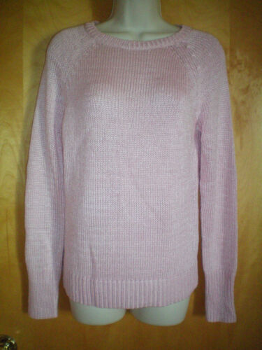 NWT NEW womens pink CHAPS l//s loose knit sweater $69 retail