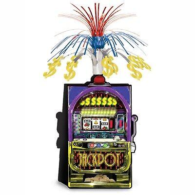 Las Vegas Slot Machine Centerpiece - Casino Party Decorations - Jackpot