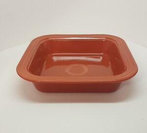 Fiestaware-Paprika-Square-Baker-Fiesta-Retired-Orange-Square-Baking-Pan-NWT