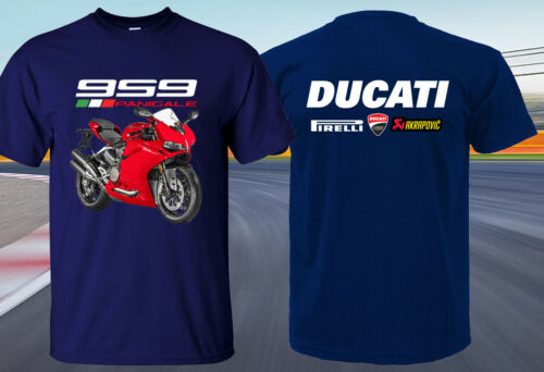 POPULAR DUCATI 959 PANIGALE SUPERBIKE MOTORCYCLE RACING SPORT T-SHIRT SIZE S-4XL