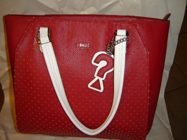 GUESS Wonderful Red & White Tote Dd666523
