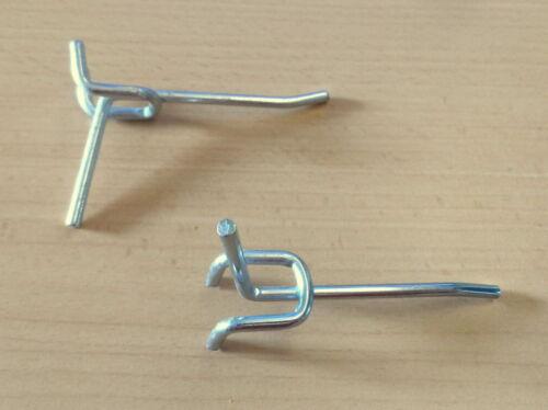 25x Lochwandhaken 6cm neu Einfachhaken Schlüssel f Tegometall Lochwände Lochwand