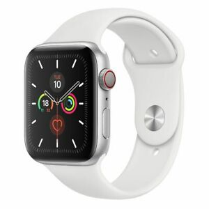 [Good Condition - Pre Owned] Apple Watch 44mm Series 5 Silver Aluminum Case w/ W