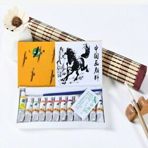 Chinese-Painting-12-Color-Tubes-Pigment-Watercolor-Drawing-Art-Pigment-12-X-5ml