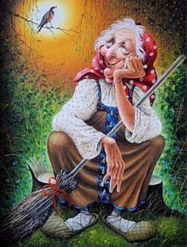 Full drill Fashion DIY Diamond Painting Moonlight Grandmother Decor Art M409