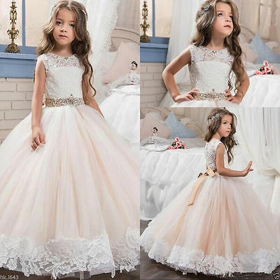 Flower Girl Dresses for Wedding Prom BallGown Pageant Party Birthday PrincessesM