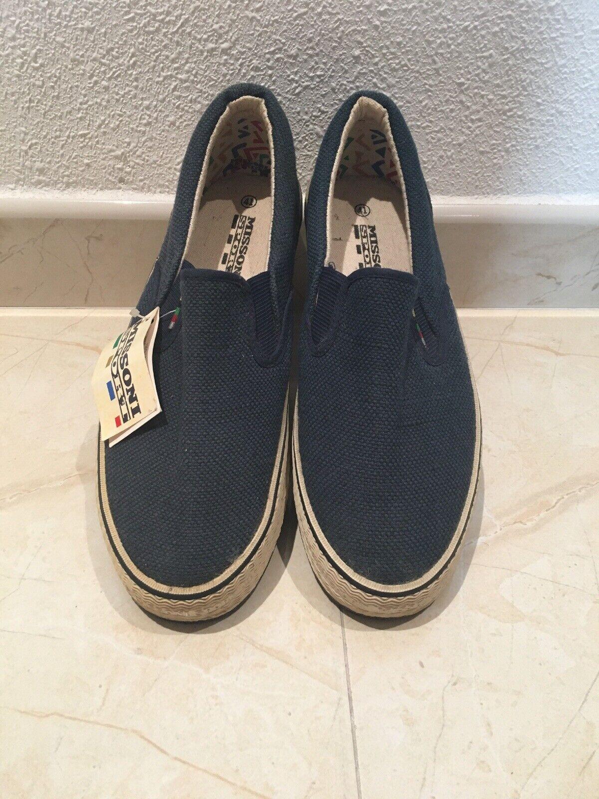 Missoni Sport Vintage Slipons Sneakers; Late 70's Early 80's