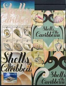 Antigua 2011 Coquillages Shells 4912-4921 + Bloc 683-684 ** Neuf Sans Charnière-afficher Le Titre D'origine