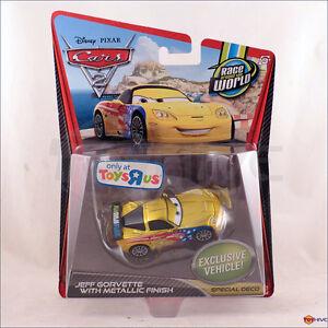 Disney Pixar Cars 2 Jeff Gorvette Special Metallic Finish Toys R Us