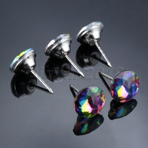 """1.18/"""" 3 Color 5Pcs Cristal Recouvert de Clous Punaises Canapé Mobilier accessoire 0.79/"""""""