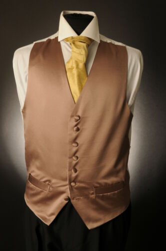 W-1079 MOLTON BROWN SATIN WEDDING WAISTCOAT FORMAL//DRESS//WEDDING