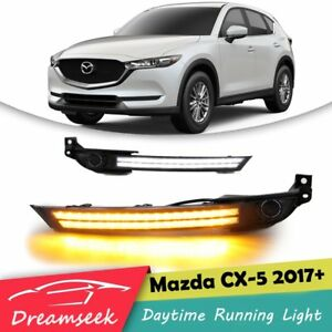 2017 Mazda Cx 5 Colors >> Details About Drl For Mazda Cx 5 Cx5 2017 2019 Daytime Running Light Fog Light Bezel W Turn