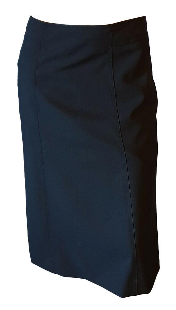 Bien Jupe Classique Évasée Onduleuse Trapèze Élégant Femme Noir Genou 42 50% De RéDuction