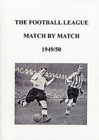 The Football League Match By Match 1949/50 Season Complete Statistics book