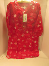 Hatley 100 Cotton Flannel Nightdress Large/ex Large L/xl 3/4 Sleeve 2593