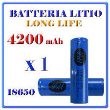 Batteria 18650 Ricaricabile Litio 4200mAH 3,7v Torcia Softair